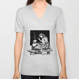 Royal crown sword and a cane from The History of the Kingdom of Denmark by J Steenstrup Kr Erslev A Unisex V-Neck