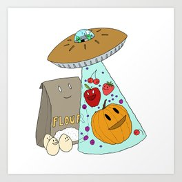 Pie UFO Art Print