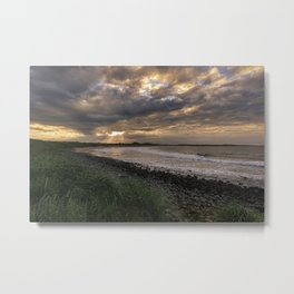 Sunset on the northumberland coast,  Metal Print