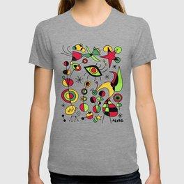 Joan Miro Peces De Colores (Colorful Fish ) Artwork for Posters Tshirts Prints Men Women Kids T-shirt
