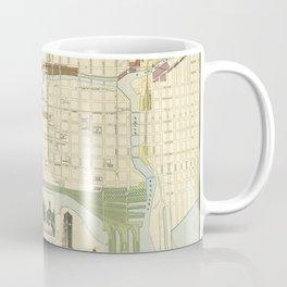 Chicago Railroad Map 1898 Coffee Mug