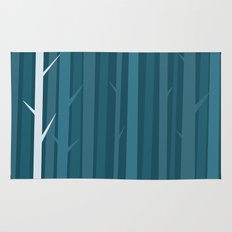 Blue Wood Rug