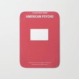 No005 My American Psycho minimal movie poster Bath Mat