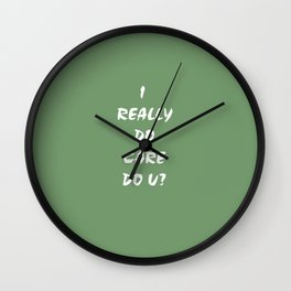 I Care! Wall Clock