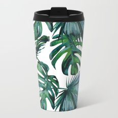 Tropical Palm Leaves Classic Metal Travel Mug