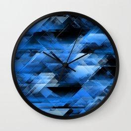 Abstract geometric blue Wall Clock