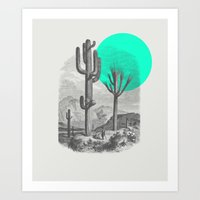 cacti Art Prints featuring Cacti by Zeke Tucker