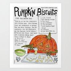 Pumpkin Biscuits Art Print