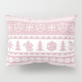 """Roll for Initiative Fair Isle in """"Frosting"""" Pillow Sham"""