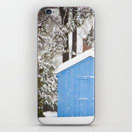 Blue Snow House  iPhone Skin