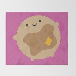 Kawaii Pancake Throw Blanket