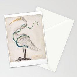 Heron Encircled by a Snake, Maria Sibylla Merian, 1700 Stationery Cards