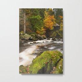 III - River through autumn colours at the Hermitage, Scotland Metal Print