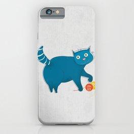 Blue Fat Cat iPhone Case