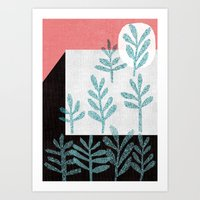 plants Art Prints featuring Plants by The Printed Peanut