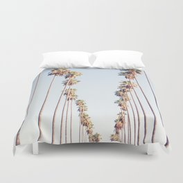 Palm tree stripes Duvet Cover