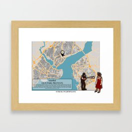 Atlas of Inspiring Protests; ISTANBUL Framed Art Print