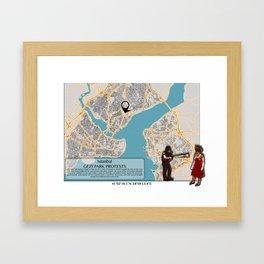 Atlas of Inspiring Protests; ISTANBUL Framed Art Print