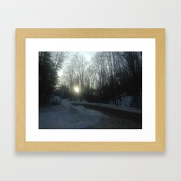 Winter Roads Framed Art Print