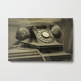 I Still Dial Metal Print