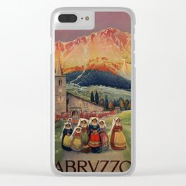 Abruzzo Italian travel back from church Clear iPhone Case