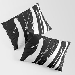 Abstract Swatches // White Pillow Sham