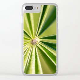 Lupine Leaves Clear iPhone Case