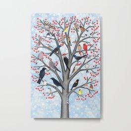 winter birds of North America Metal Print