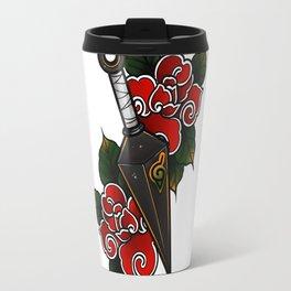Naruto Kunai Akatsuki Rose Travel Mug