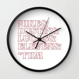 Stranger Thing Character Wall Clock