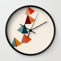 balance Wall Clocks featuring Balance by Tammy Kushnir