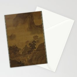 Sesshu Toyo - Landscape of Four Seasons, Fall (1490s) Stationery Cards