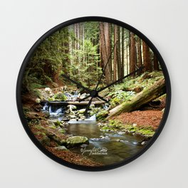 Crystal Stream Wall Clock