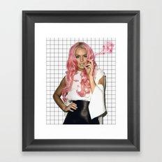 Pink SUPREME Framed Art Print