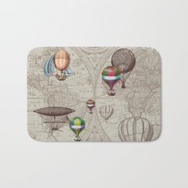 Balloon Festival Brown Bath Mat