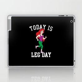 Today Is Leg Day Ariel Little Mermaid Run Gym Laptop & iPad Skin