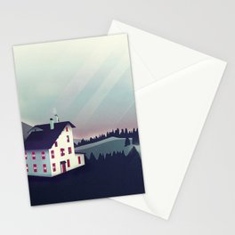Castle in the Mountains Stationery Cards