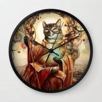 discount Wall Clocks featuring Jizo Bodhissatva by Christina Hess