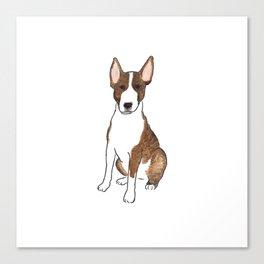 Bull Terrier Life - Watercolor Bull Terrier Canvas Print