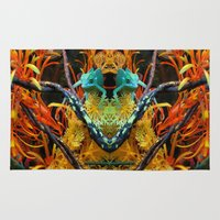 chameleon Area & Throw Rugs featuring Chameleon by Geni