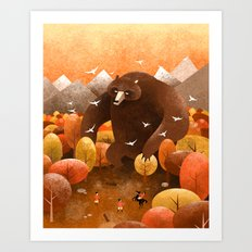Giant bear Art Print