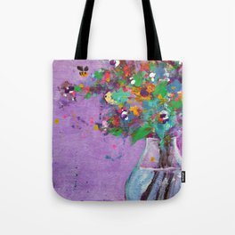 Flower Arrangement in Vase #1 Tote Bag