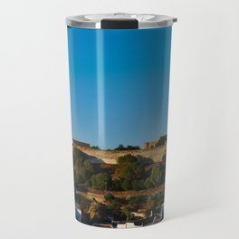 Castle of Castro Marim from the hill Travel Mug