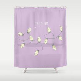 It's Lit Fam #kawaii #christmas Shower Curtain