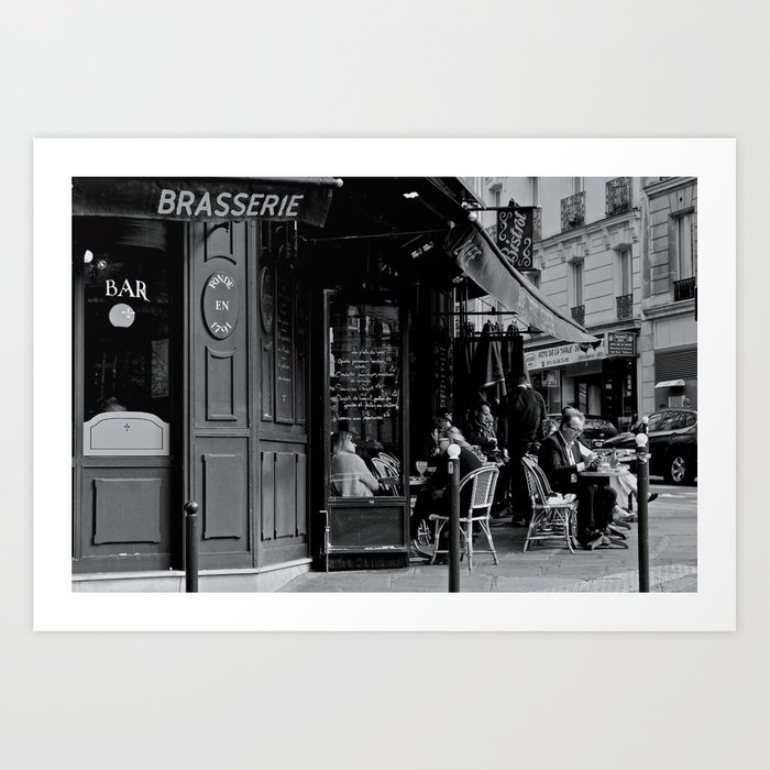 At the Brasserie Art Print