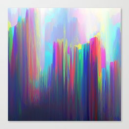 Technicolor Rain Canvas Print