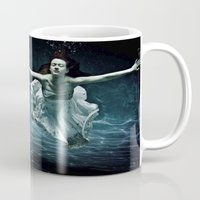 abyss Mugs featuring abyss of the disheartened : girl I by Heather Landis
