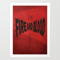 targaryen Art Prints featuring House Targaryen - Fire and Blood by Jack Howse