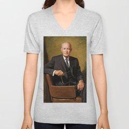 Dwight D. Eisenhower Unisex V-Neck