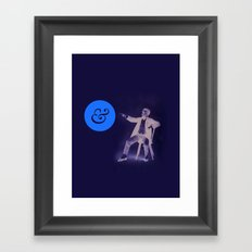 A Stern Ampersand Framed Art Print